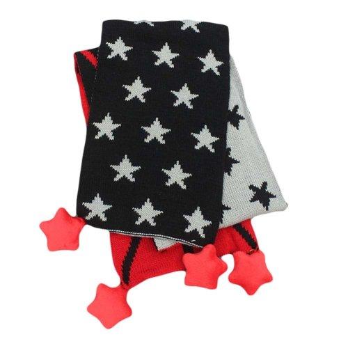 Autumn Winter Cotton Baby Scarves Star Pattern Long Warm Scarf Tassels