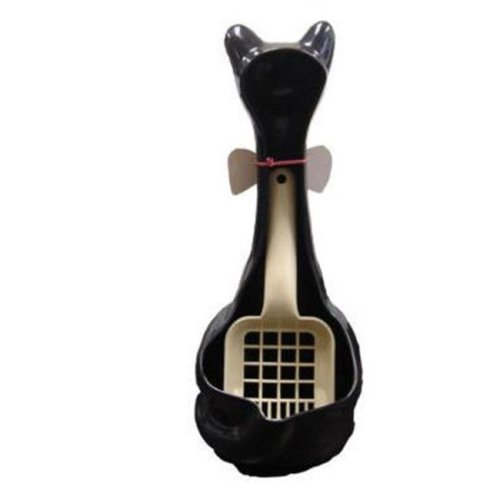 New Age Pet IND003B Cat Scoopy Litter Box Scoop Holder-Black