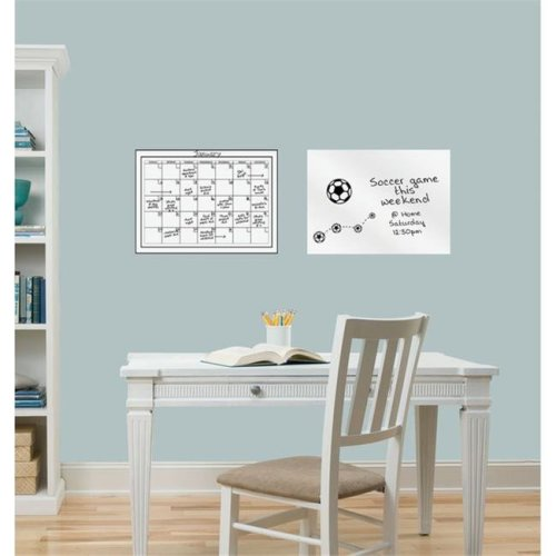 WallPops WP0591 Monthly Whiteboard Dry Erase Calendar Message Board Combo