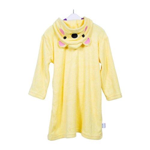 Cartoon Series Soft Baby Bathrobe/Hooded Bath Towel, Yellow Bear, (58*32CM)