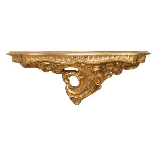 Antiqued Gold Leaf  Finishing Wall Shelf  L19xd19xh52 Cm