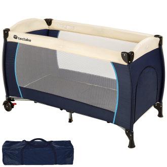 Travel cot for children - blue