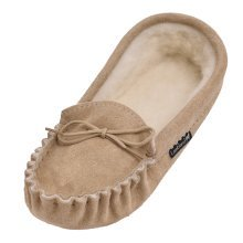 Mens Premium Suede & Lambswool Moccasin Slippers