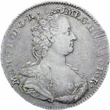 Austrian Netherlands Brabant 1754 One Ducaton Maria Theresia Coin Type 2 Hand Mintmark