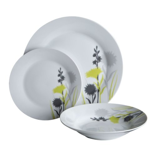 12Pc Meadow Designed Dinner Set