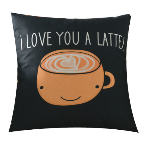 I Love You a Letter Cup Pattern Home with Small Pillow
