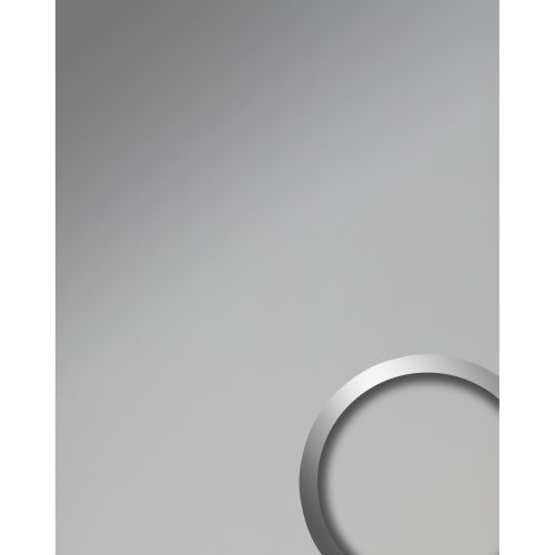 WallFace 19607 Silver matt Decor panel metal look matt silver 2.6 sqm