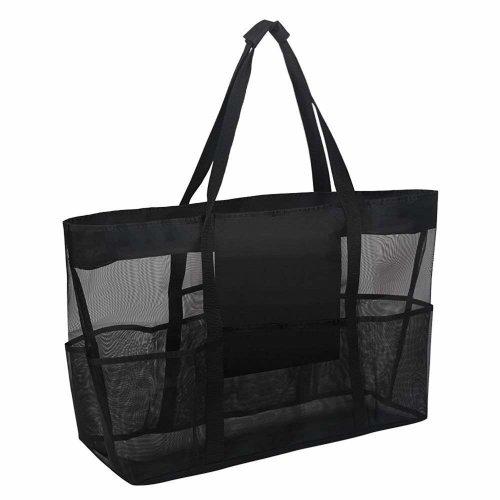 Sorliva Mesh Beach Storage Bag Heavy Duty Large Mesh Duffel Bag w/Zipper Pocket Gear Bag Storage Pouch for Travel Vacation Beach Diving,Snorkel,...