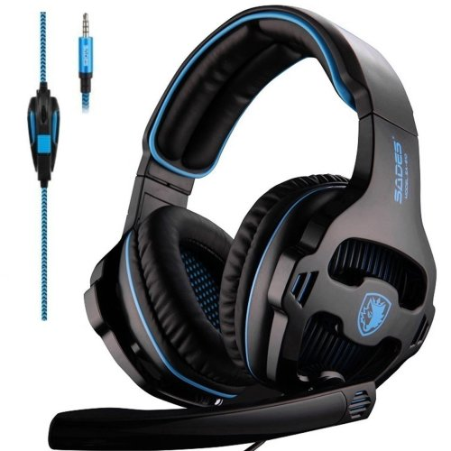 2de87fdeb92 Gaming Headset, SADES 810B PC PS4 XBOX ONE Gaming Headpone 3.5 mm Wired  Over-ear Headphones with Microphone on OnBuy