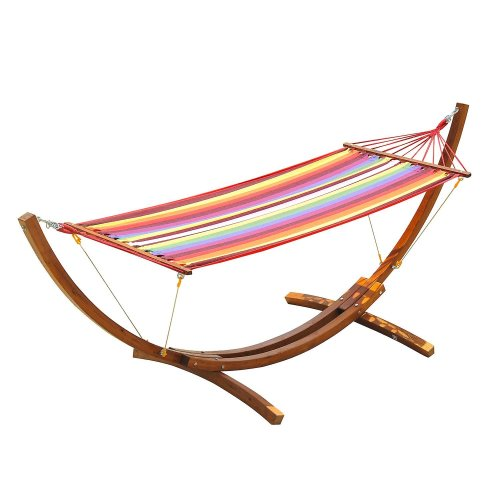 Outsunny Wooden Frame Hammock | Hammock With Stand