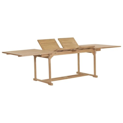 44678 vidaXL Extendable Garden Table 180-280x100x75 cm Solid Teak Wood