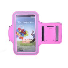 [HOT PINK] SPORTY Armband+ Key Holder for SAMSUNG S3/S4/4.7-5 inch smart phone