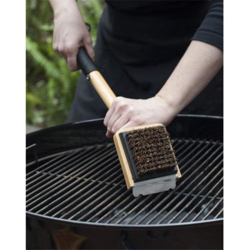 Charcoal Companion CC1100 Bamboo Grill Brush with Palmyra Sustainable Safe-Scrub Bristles