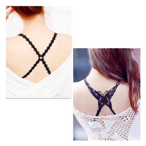 Women Underwear Shoulder Strap Back Cross Bra Straps(2 Pairs), Set L
