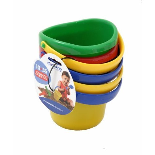 Miniland Baby Sand Pail 4 Set of 4 Assorted Colors