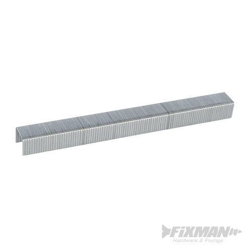 Fixman 10j Galvanised Staples 5000pk 11.2 x 8 x 1.16mm