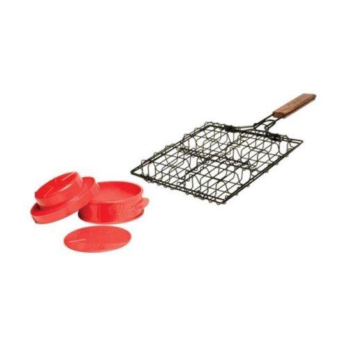 Charcoal Companion CC3518 Stuff-A-Burger Basket & Press