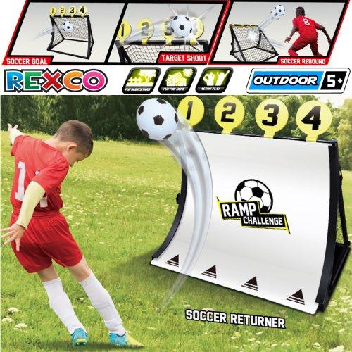 Football Net Training Goal Kids 4 In 1 Target Rebounder Soccer Kickback Toy Game