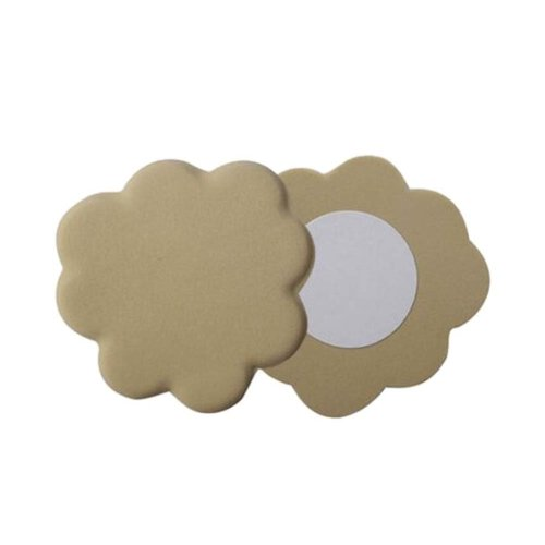 2 Pairs Of Beige Flower-Shaped Non-Slip Gel Pad Half Points Forefoot Insole
