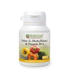 Folate 500mcg & Vitamin B12 500mcg x 90 caps