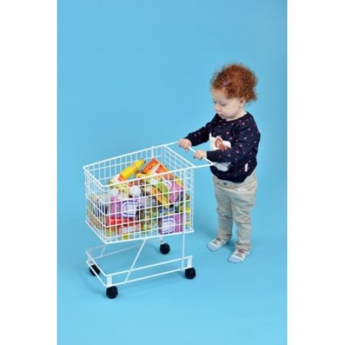 Childrens Shopping Trolley & 75 Pc Food Set (A1555)