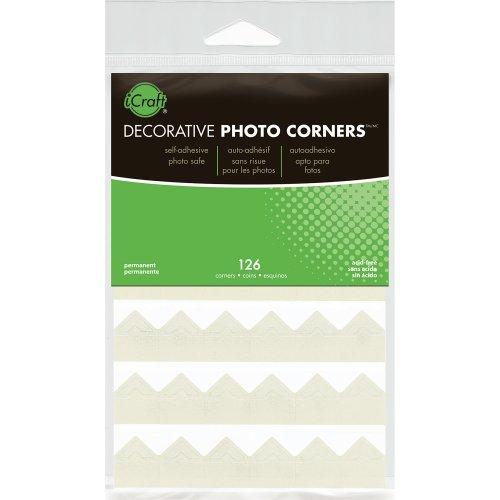 Decorative Photo Corners 126/Pkg-Ivory