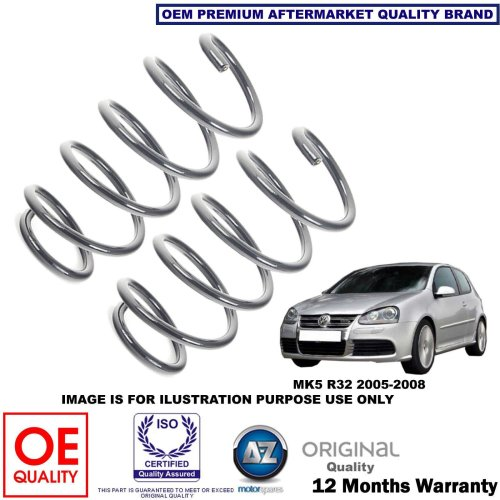 for VW GOLF MK5 R32 2005-2008 X2 REAR AXLE COIL SPRINGS SET 1K0511115GE NEW OEQ