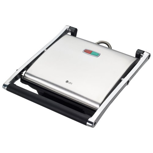 (Stainless steel) Dihl 4 Slice Sandwich Grill | Large Panini Press