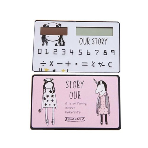 Creative Mini Solar Card Calculator Child Count Toy/Office Supplies,B3