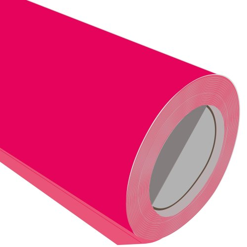 Neon Pink Iron On Garment Vinyl Roll 610mm 1M 2M 3M 5M 10M