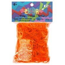 Official Rainbow Loom 600 Orange Refill Bands