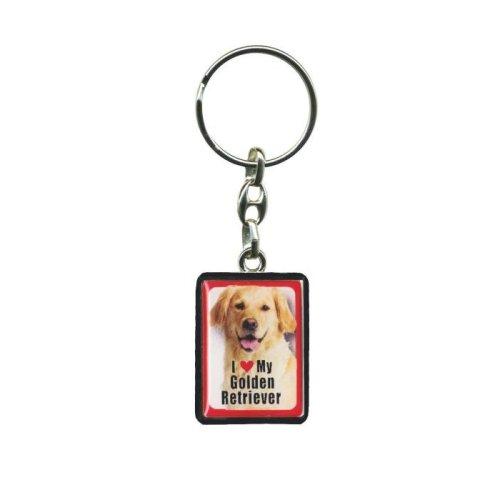 Golden Retriever Dog Keyring