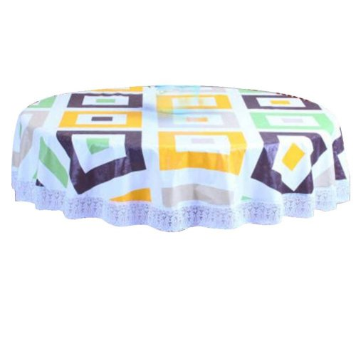 Elegant Classical Round Tablecloth Water And Oil Resistant Tablecloths