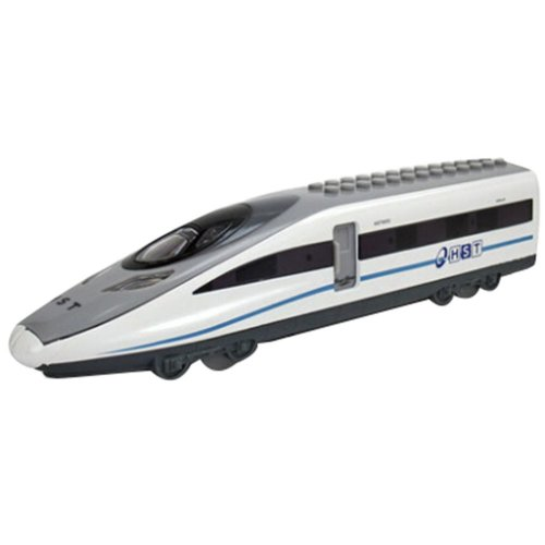 Simulation Locomotive Toy Model Trains Speed Rail Assembles Toy, (23*5.5*4CM)