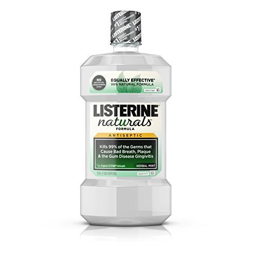Listerine Naturals Antiseptic Mouthwash Herbal Mint 1 L