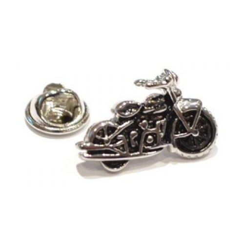Classic Motorcycle Design Lapel Pin Badge   Ideal mens lapel/tie pin for bikers