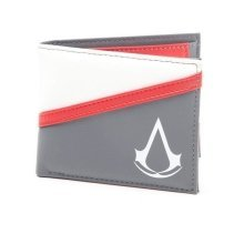 Assassins Creed Debossed Crest Bi-Fold Wallet Coin Pouch - Grey (MW250301ASC)