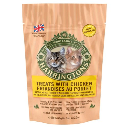 Harringtons Cat Treats With Chicken 65g (Pack of 12)