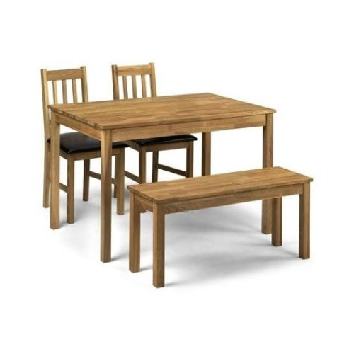 Cox Dining Set Solid Oak Chairs or Bench Fully Assembled Chairs
