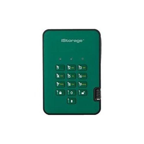 iStorage IS-DA2-256-SSD-1000-GB 1TB diskAshur2 USB 3.1 secure portable encrypted SSD drive - Racing Green
