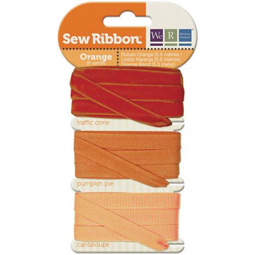 "We R Memory Keepers Sew Ribbon .375""X6yds-Orange"