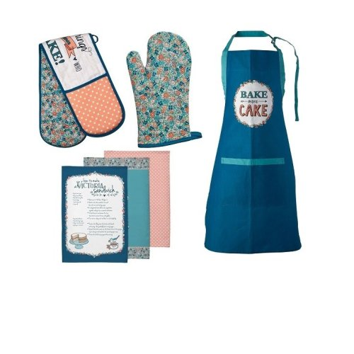 Pretty Things Oven Gloves, Apron And Tea Towels, Set Of 6