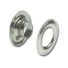 """Pack Of 10 3/8"""" No.2 Nickel Plated Grommets"""