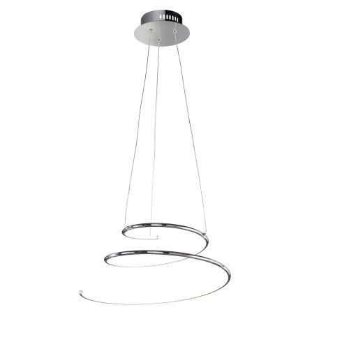 Wofi Visio - Dimmable Integrated LED 1 Light Pendant Light Chrome - WOFI6005.01.01.5000