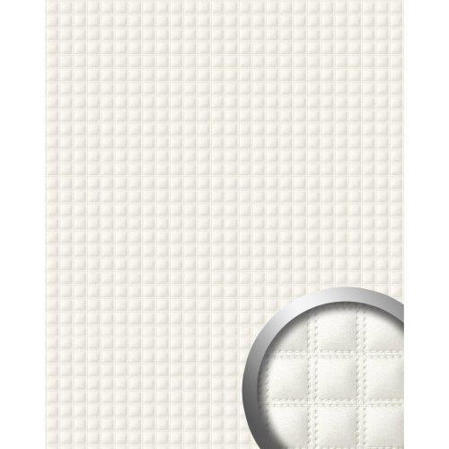 WallFace 15175 QUADRO Wall panel leather decor square eyecatcher white 2.60 sqm