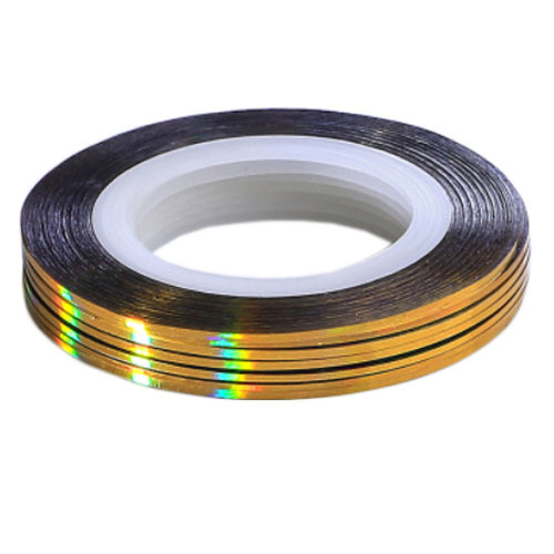 10Pcs Rolls Striping Tape Line Nail Art Tips Decoration Sticker, Golden
